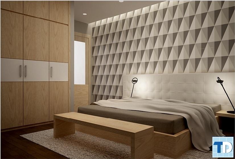 Gỗ ốp tường được thiết kế độc đáo