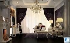 Thiết kế nội thất tân cổ điển châu âu sang trọng, đẳng cấp vượt bậc