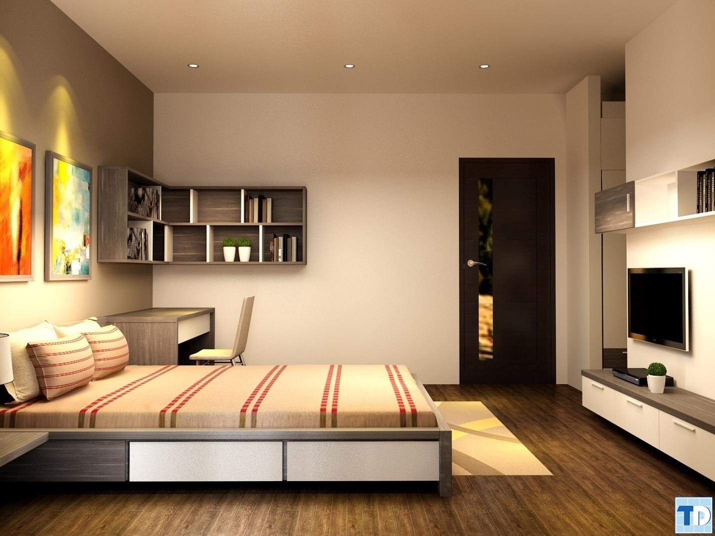 Phòng ngủ hiện đại với thiết kế tối giản