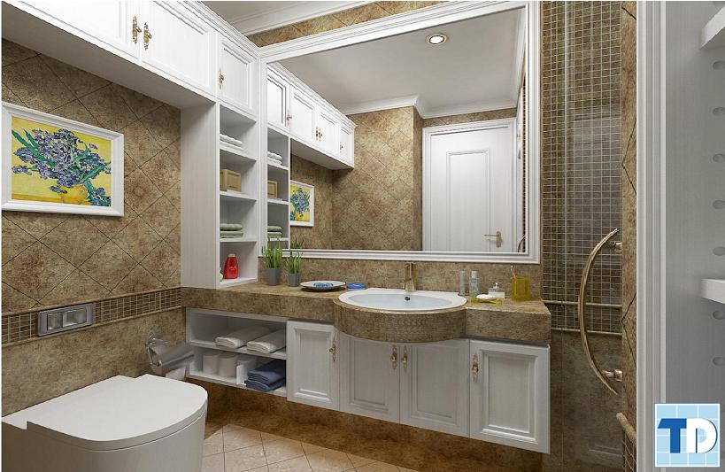 Phòng tắm với thiết bị cao cấp