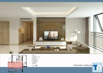 Trọn bộ thiết kế bản vẽ căn hộ B801 chung cư cao cấp Thăng Long Number One