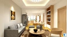 Nội thất  chung cư đẹp với cách thiết kế phòng bếp đơn giản mà đẹp