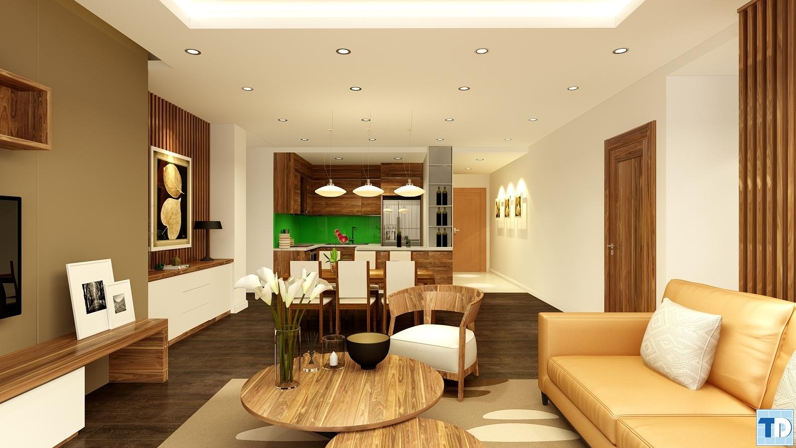 Phòng kháchnhà Anh Thành phòng B3811 Khu chung cư cao cấp Thăng Long Number One