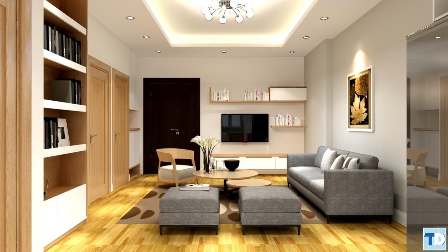 Phòng khách căn hộ509 Khu chung cư cao cấp South Tower