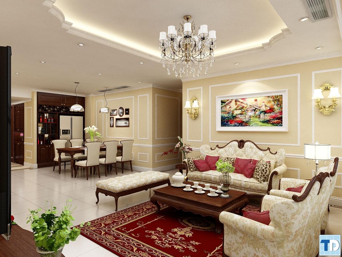Phòng kháchB1202 Khu chung cư cao cấp Thăng Long Number One