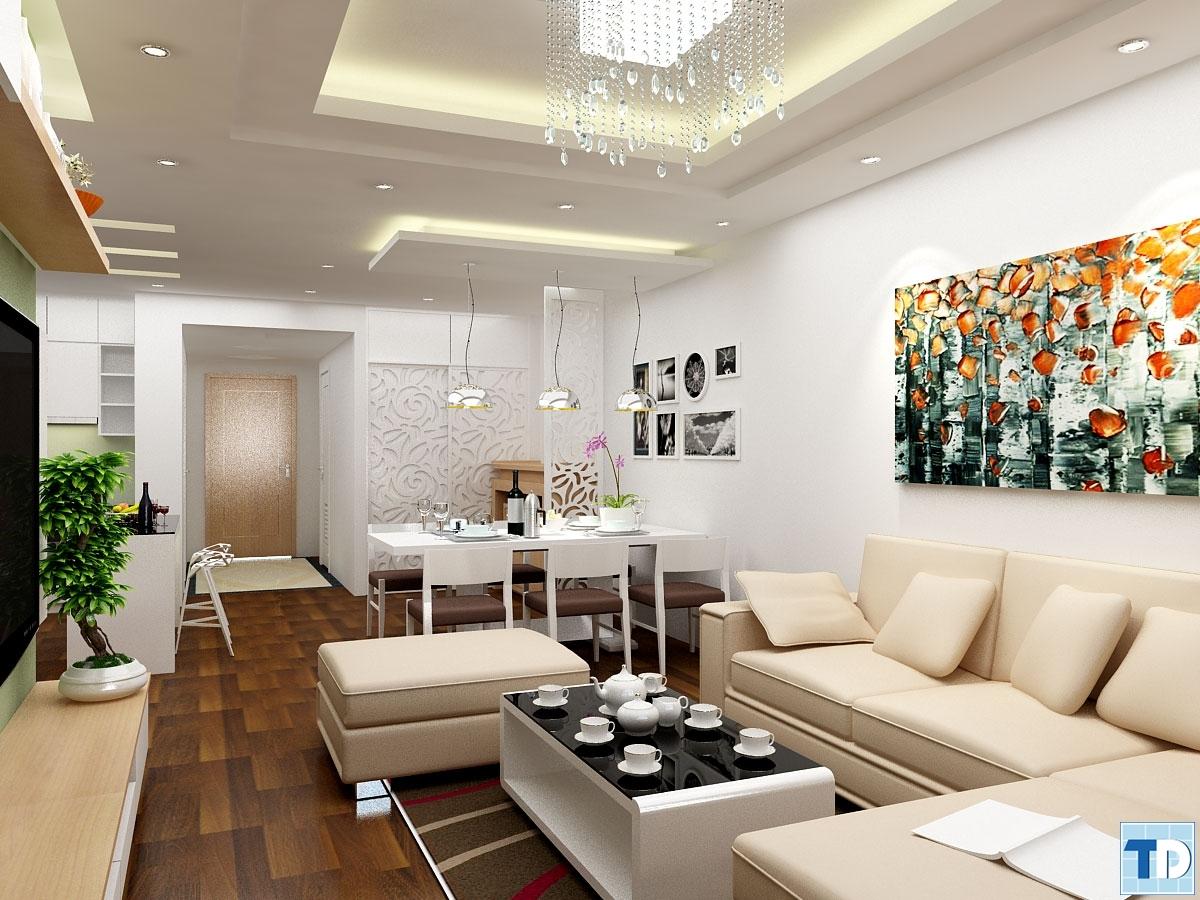 Phòng kháchnhà Anh Thứ căn hộ B3210 Khu chung cư cao cấp Thăng Long Number One