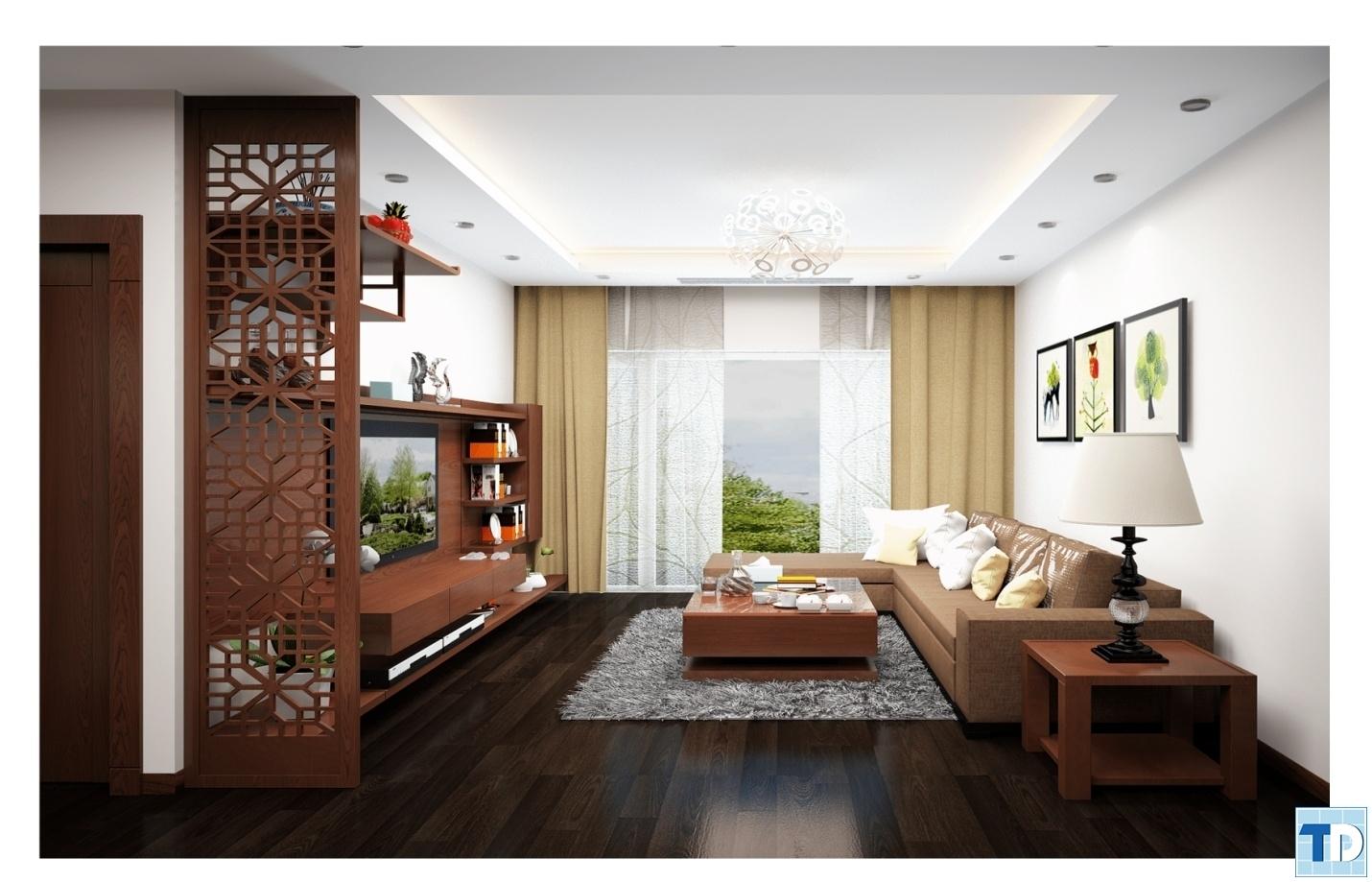 Phòng khách căn hộA3903 Khu chung cư cao cấp Thăng Long Number One