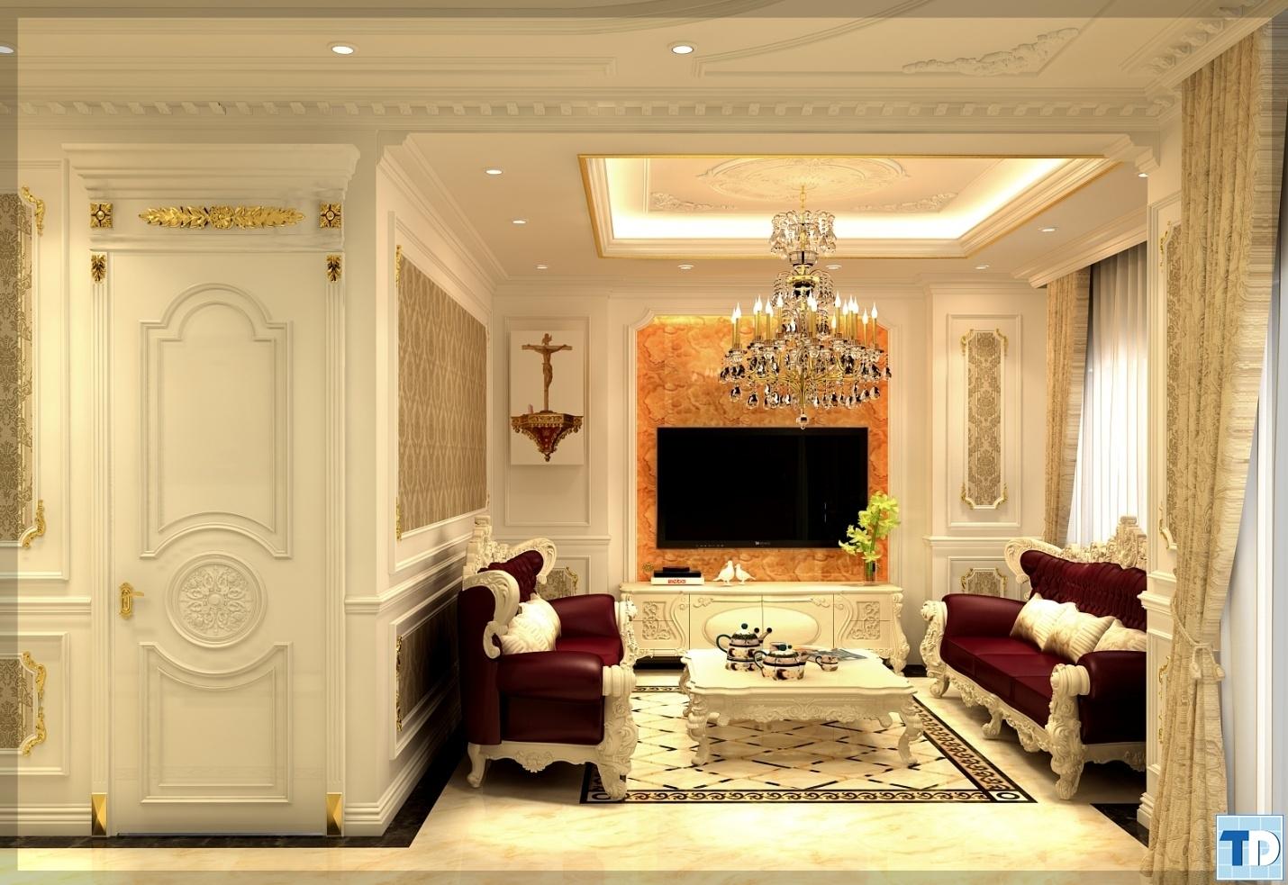 Phòng kháchnhà Anh Hiếu Khu chung cư cao cấp Helios Tower 75 Tam Trinh