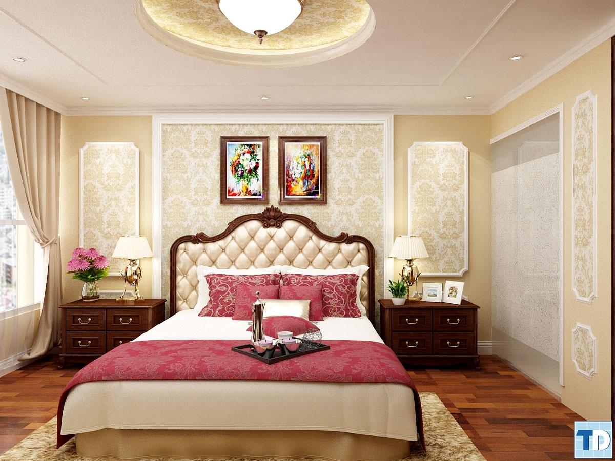 Phòng ngủ nhà Anh Hằng phòng B1202 Khu chung cư cao cấp Thăng Long Number One