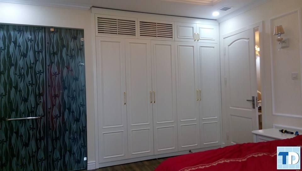 Nội thất phòng ngủ cũng được chú trọng thiết kế đẹp mắt,sang trọng