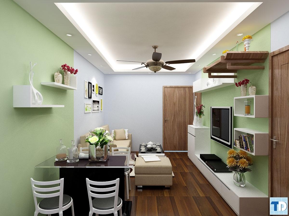 Phòng khách và phòng ăn và bếp