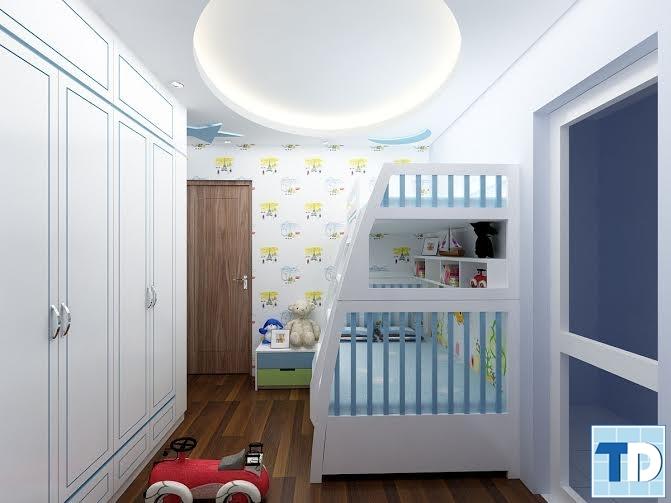 Căn phòng tối giản trong cách thiết kế dành cho trẻ nhỏ