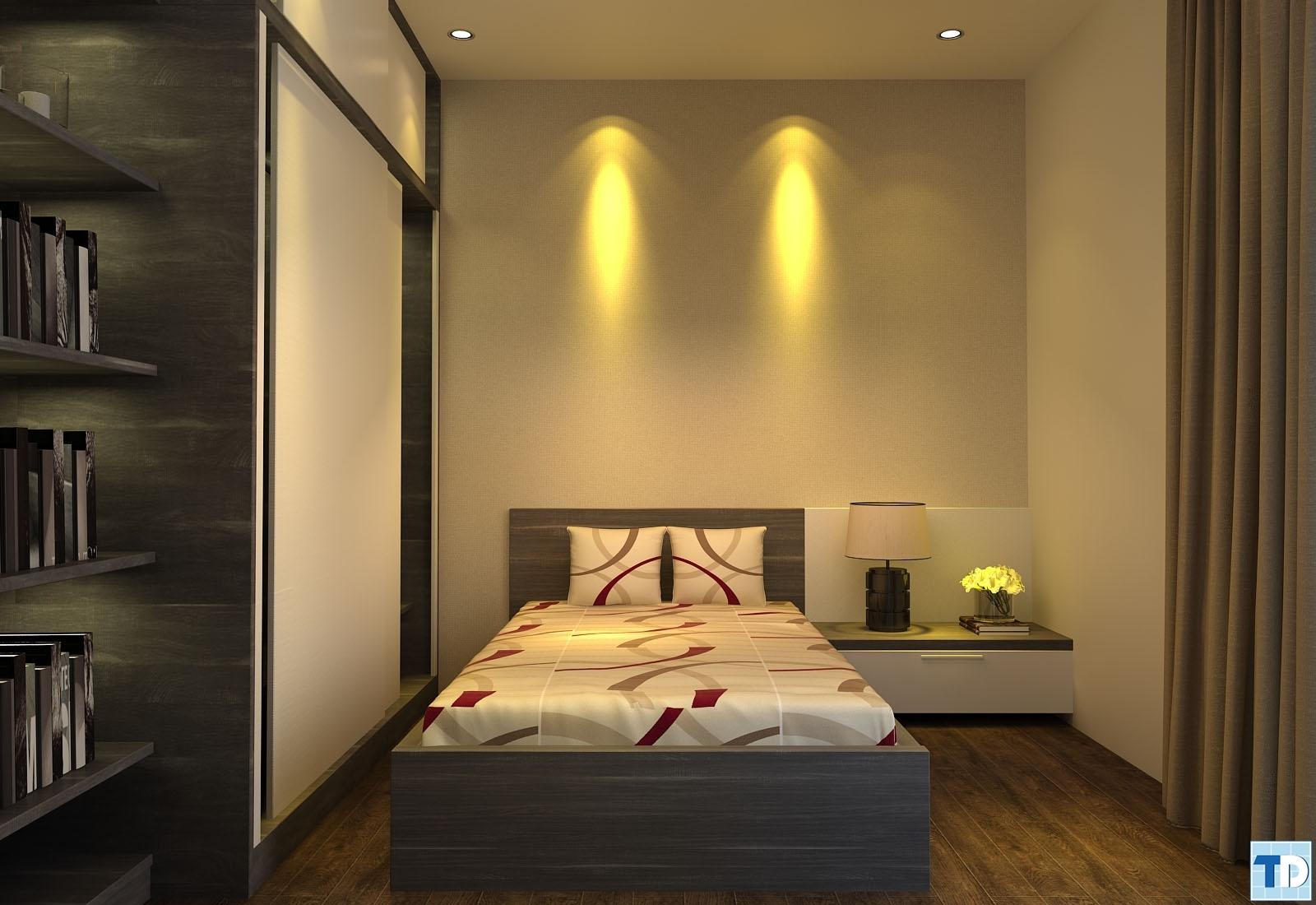 Phòng ngủ đơn giàn trong cách bài trí nội thất