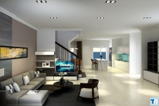 Mẫu thiết kế nội thất sang trọng và hiện đại cho căn hộ chung cư
