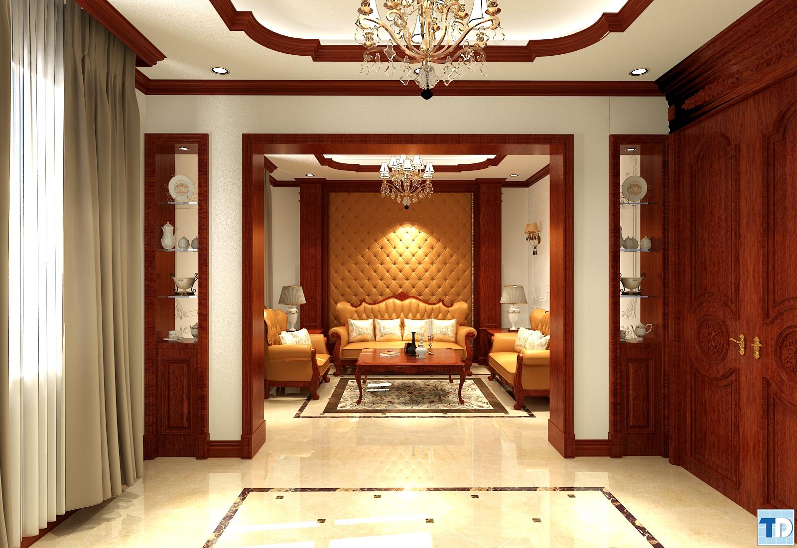 Tuyển chọn mẫu thiết kế phòng khách lộng lẫy với phong cách tân cổ điển