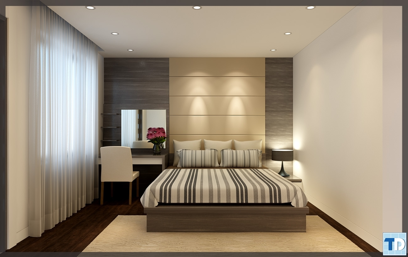 Phòng ngủ hiện đại, tiện nghi