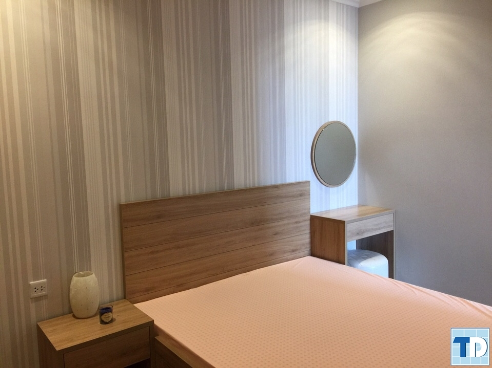 Phòng ngủ trang nhã được thiết kế tối giản
