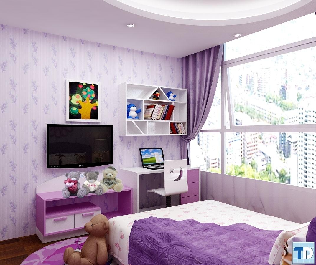 Phòng ngủ dành cho bé gái đáng yêu