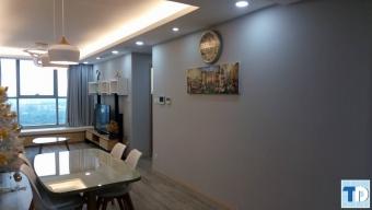 Hình ảnh thi công căn hộ B1706 hiện đại, cá tính nhà Chị Mai