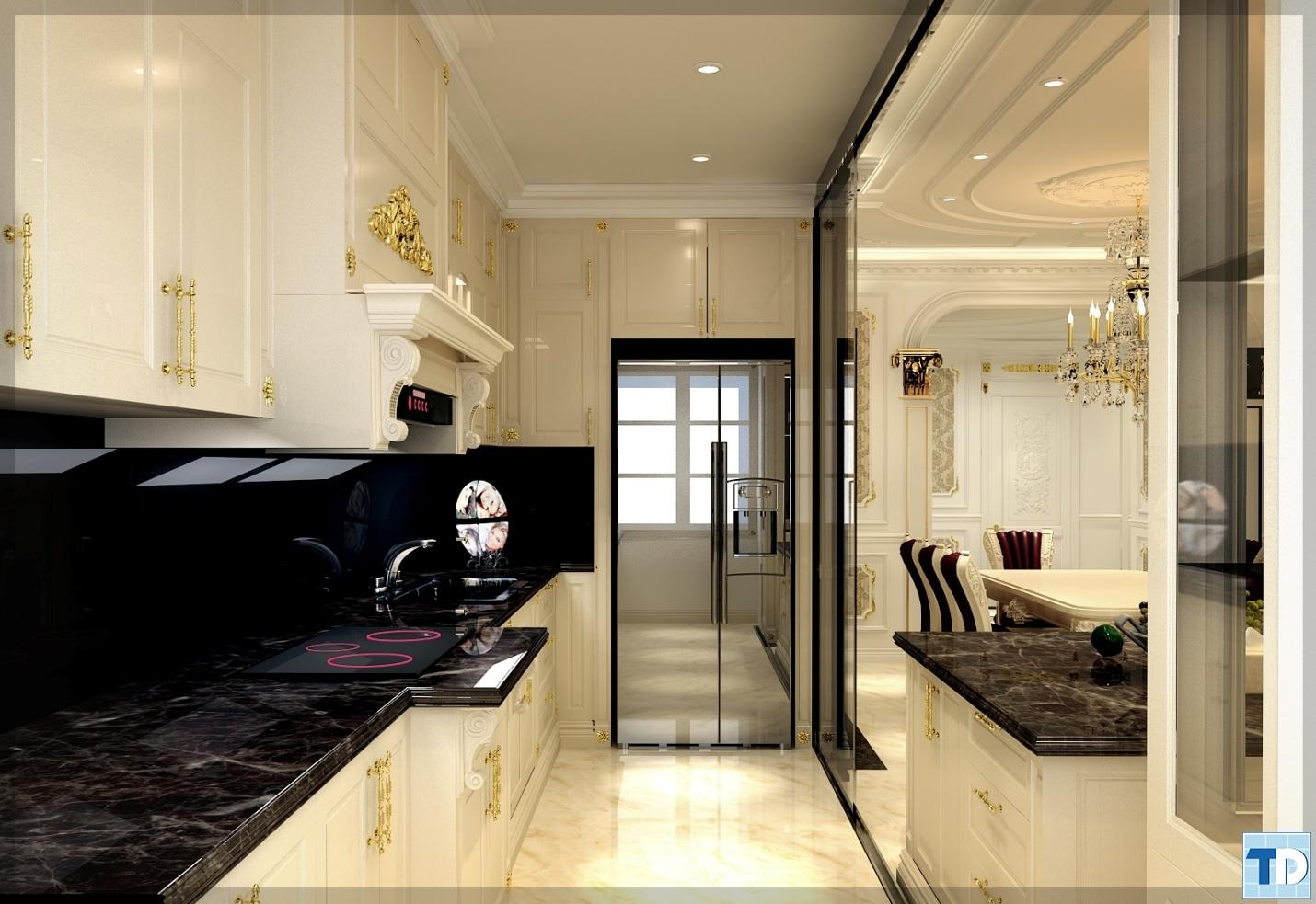 Thiết kế phòng bếp sang trọng
