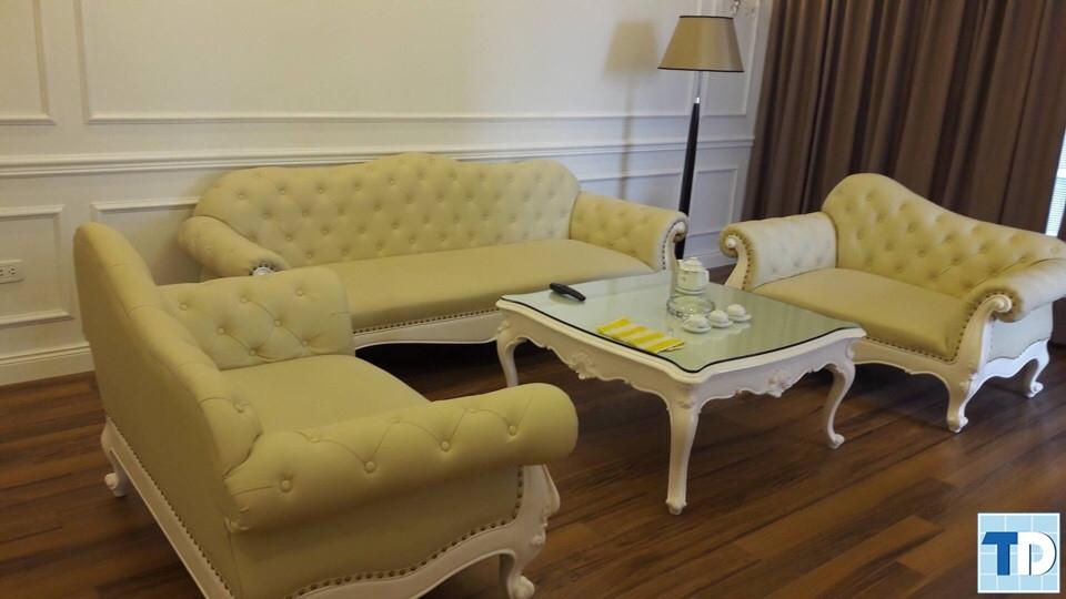 Bộ sofa phòng khách với thiết kế sang trọng