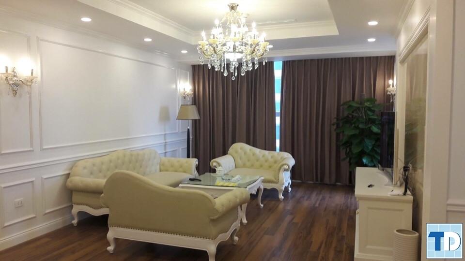 Thi công nội thất tân cổ điển sang trọng căn hộ B701 nhà anh Truyền