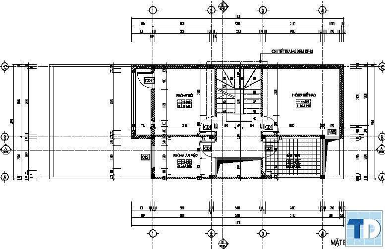 Bản vẽ thiết kế nội thất nhà tầng
