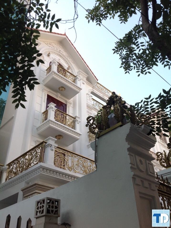 Ngôi nhà biệt thựlộng lẫy trong gam màu trắng sang trọng