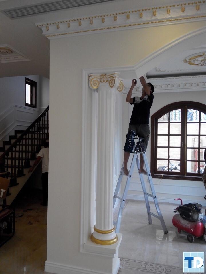 Thi công trần nhà
