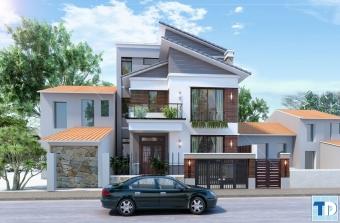 Mẫu thiết kế nhà phố đẹp hiện đại nhà chị Lan – Văn Điển