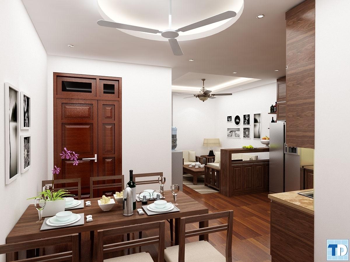 Nội thất gỗ cho căn hộ nhỏ 70m2