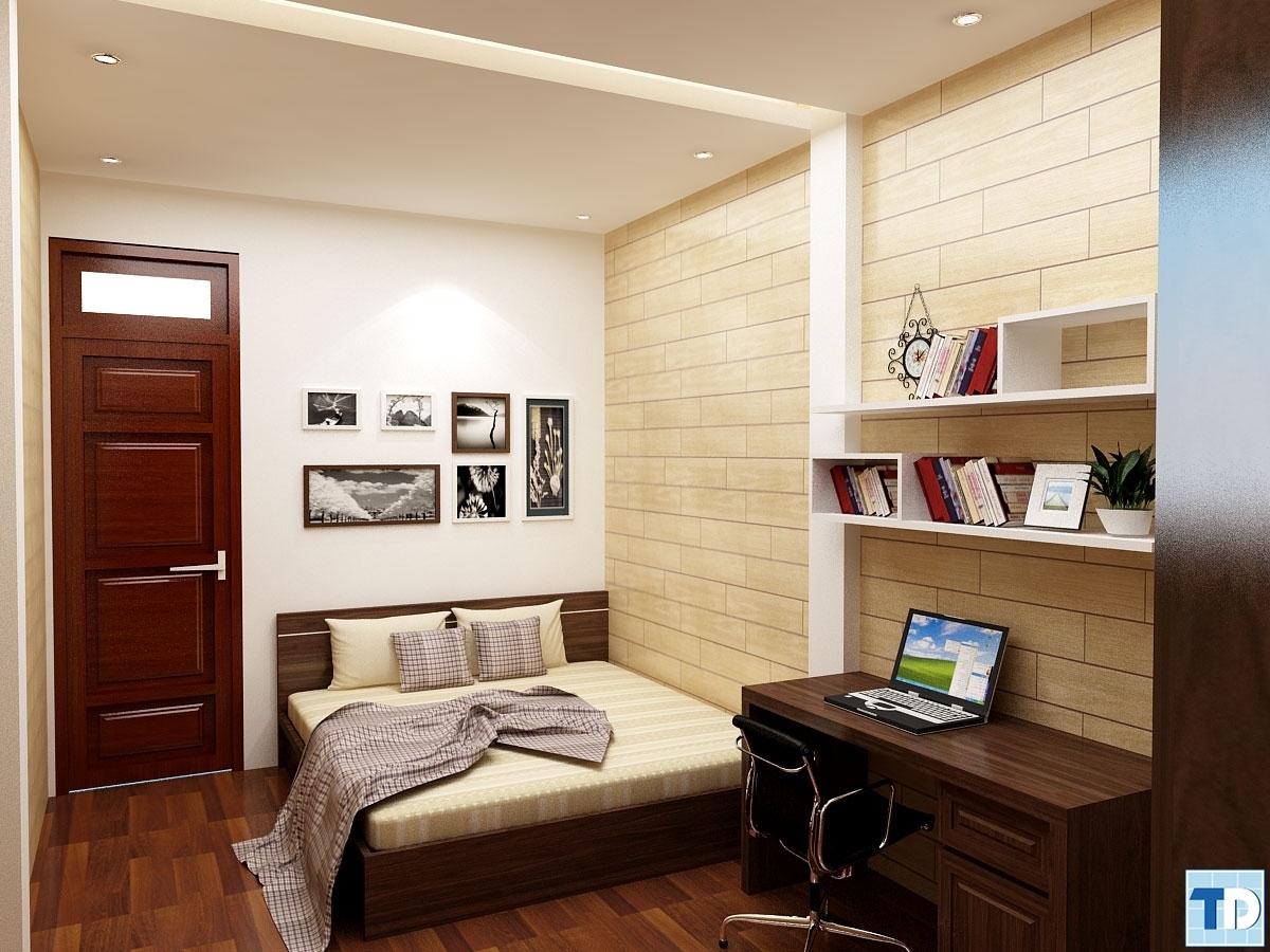 Sử dụng toàn bộ chất liệu gỗ trong không gian phòng ngủ