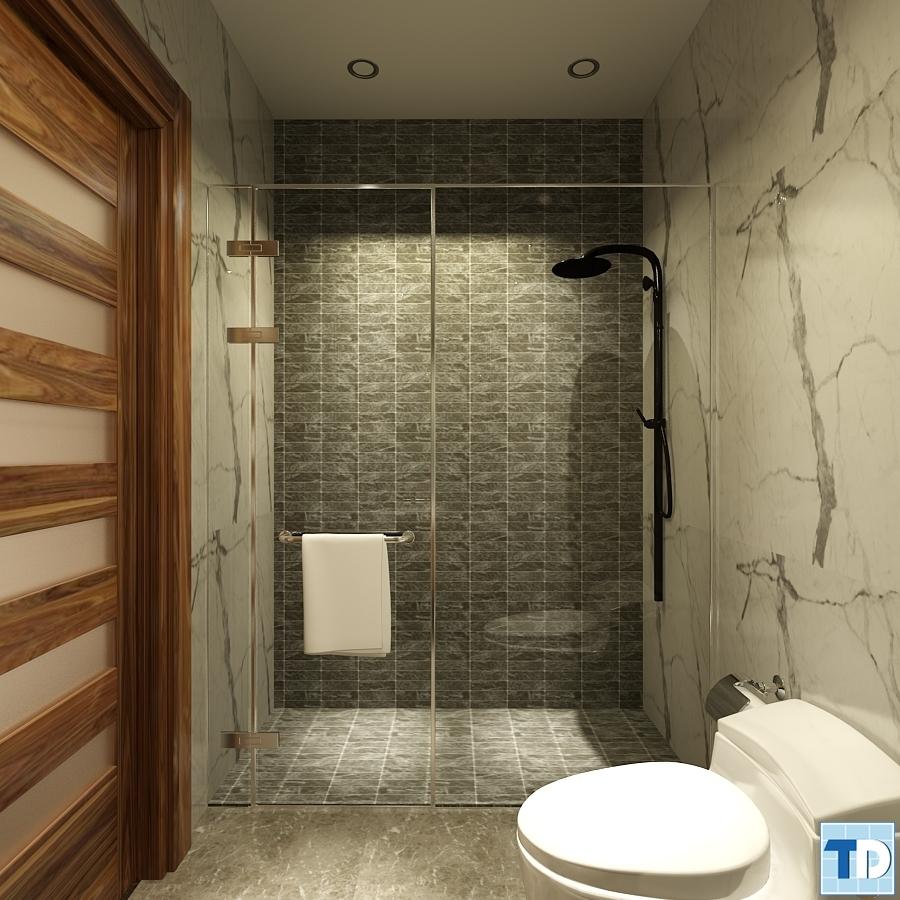 Trang trí thiết kế nội thất phòng tắm tân cổ điển đẹp