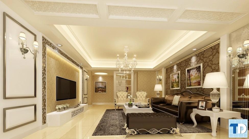 Mẫu thiết kế nội thất tân cổ điển sang trọng