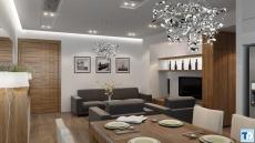 Thiết kế nội thất căn hộ chung cư cao cấp diện tích 100m2