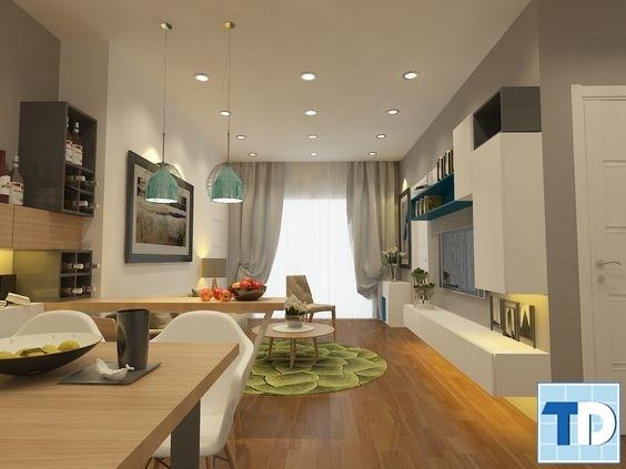 Thiết kế chung cư 50m2 hiện đại