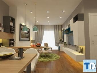 Mẫu thiết kế nội thất chung cư 50m2 hiện đại cho cặp vợ chồng trẻ
