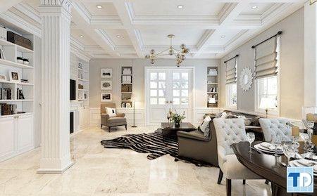 Sắc trắng tinh khôi với những món đồ nội thất cao cấp