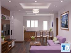 Nội thất căn hộ chung cư 50m2 sang trọng đẳng cấp với phong cách hiện đại
