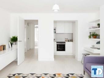 Hút mắt với mẫu thiết kế nội thất chung cư 60m2 hiện đại, tiện nghi