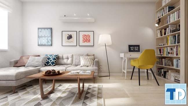 Phòng khách với thiết kế trẻ trung