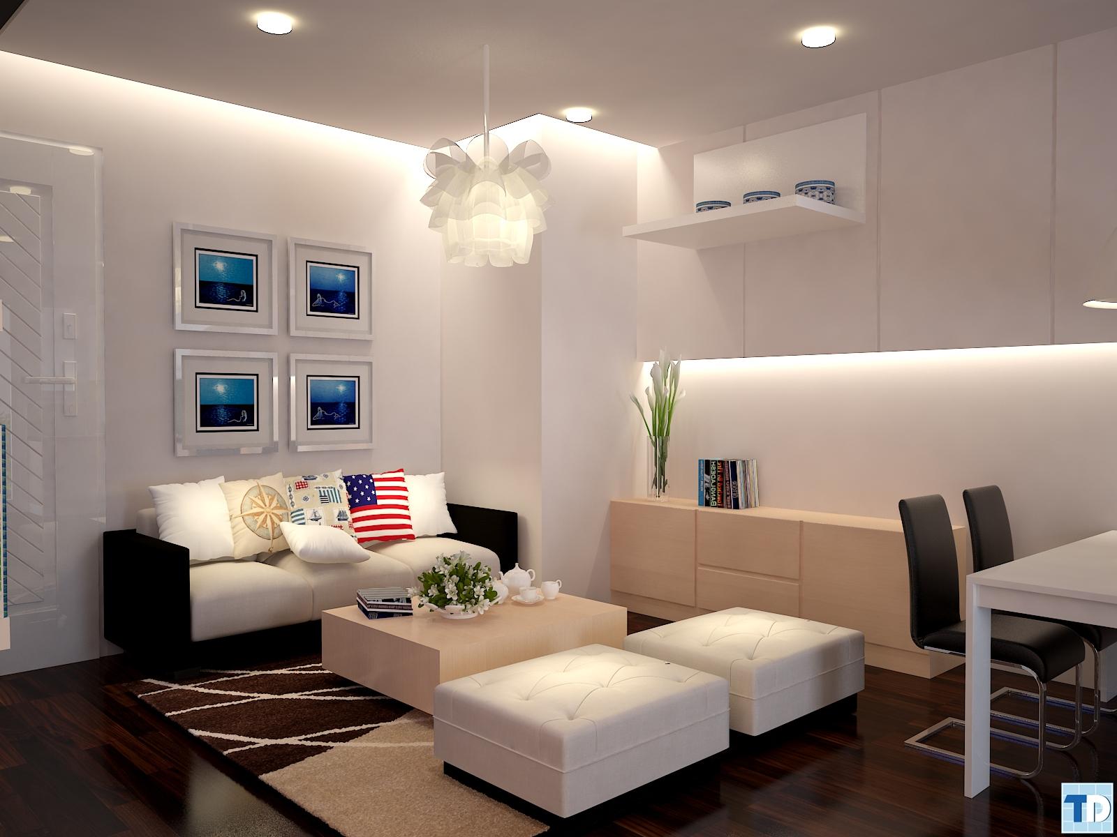 Thiết kế nội thất chung cư 60m2 trang nhã, quyến rũ đẹp hút mắt