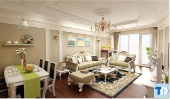 Mẫu thiết kế nội thất tân cổ điển sang trọng cho căn hộ chung cư