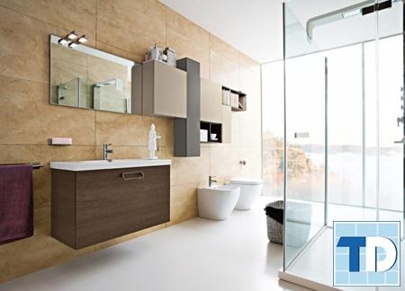 Phòng tắm sang trọng với các thiết bị tiện nghi