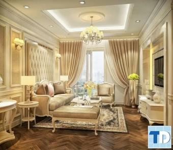 Tinh tế, quyến rũ phong cách thiết kế nội thất chung cư tân cổ điển