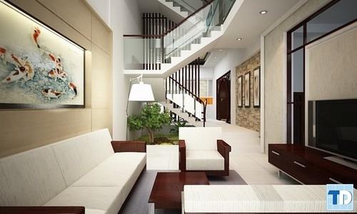 Phòng khách với những nội thất cao cấp