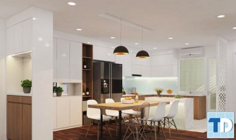 Bí quyết thiết kế nội thất căn hộ chung cư 80m2 trở lên lung linh hơn