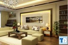 Mẫu nội thất phòng khách đẹp hiện đại kiêu sa với thiết kế tối giản