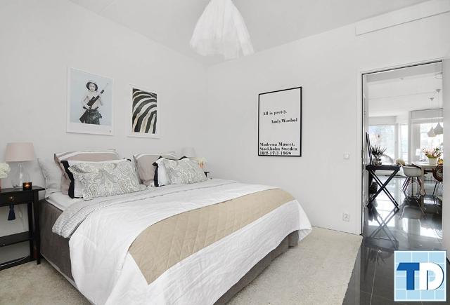 Phòng ngủ con được thiết kế tối giản