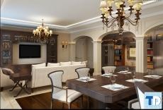 Vẻ đẹp lộng lẫy, sang trọng nội thất chung cư phong cách tân cổ điển